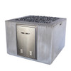Fire Cube (Glass-fiber reinforced concrete in Cool Grey Solid Finish with optional Fire Door)