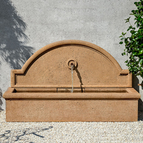 Aranjuez Fountain - Cast Stone in Travertine Finish