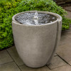 Concept Basin Fountain - Cast Stone in Greystone Finish