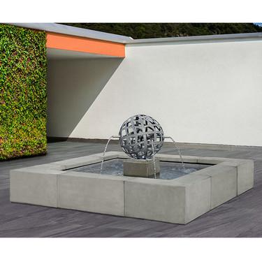 Concourse Sphere Fountain - Cast Stone in Alpine Stone Finish