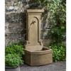 Loggia Fountain - Cast Stone in Aged Limestone Finish