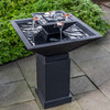 Square One Fountain - Cast Stone in Nero Nuevo finish
