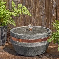 M-Series Bevel Fountain - Cast Stone in Alpine Stone Finish