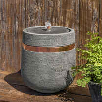 M-Series Parabola Fountain - Cast Stone in Alpine Stone Finish