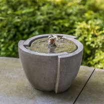 M-Series Concept Fountain - Cast Stone in Greystone Finish