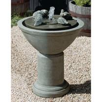 Passaros II Fountain - Cast Stone in Alpine Stone Finish