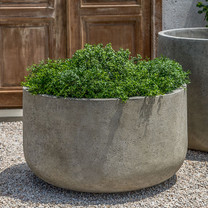 Low Tribeca Planter - Cast Stone in Greystone Finish