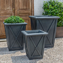 Directoire Planter - Cast Stone in Lead Antique Finish