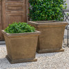 Madison Planters - Cast Stone in Aged Limestone