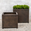 Oxford Square Planters (fiberglass in rust finish)