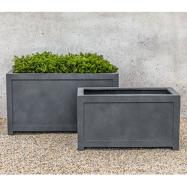 Oxford Square Planters (fiberglass in lead finish)