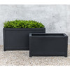 Oxford Square Planters (fiberglass in black finish)