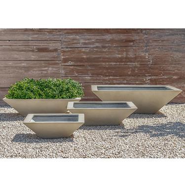 Square Zen Bowl (fiberglass in ivory finish)