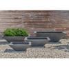 Square Zen Bowl (fiberglass in lead finish)