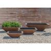 Square Zen Bowl (fiberglass in rust finish)