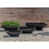 Square Zen Bowl (fiberglass in black finish)