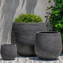 Baleares Planters (Terracotta in Volcanic Coral Glaze)