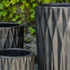 Brera Planter Detail (Terracotta in Graphite Glaze)