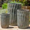 Brera Planters (Terracotta in Aqua Blue Coral Glaze)
