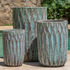 Brera Planters (Terracotta in Verdigris Glaze)
