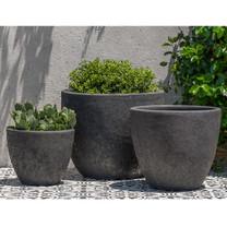 Caipirinha Planters (Terracotta in Volcanic Coral Glaze)