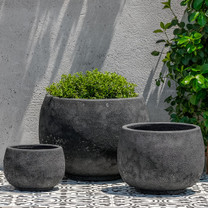 Cantagal Planters (Terracotta in Volcanic Coral Glaze)