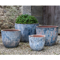 Cantagal Planters (Terracotta in Vicolo Mare Glaze)