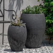 Jardim Planters (Terracotta in Volcanic Coral Glaze)
