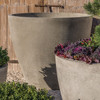 "Design.Urb Series 1 Planters - 42"" Dia. Cast Stone in Greystone Finish"
