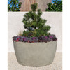 Design.Urb Series 2 Planter 48in DIA. - Cast Stone in Greystone Finish