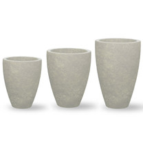 Design.Urb Series 3 Planters - Cast Stone in Greystone Finish