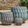 Lambrate Planters (Terracotta in Verdigris Glaze)