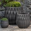 Lambrate Planters (Terracotta in Graphite Glaze)