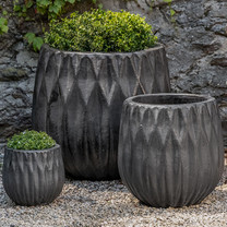 Lambrate Planters (Terracotta in Graphite Glaze)