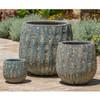 Lambrate Planters (Terracotta in Aqua Blue Coral Glaze)