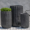 Tall Maris Planters (Terracotta in Volcanic Coral Finish)