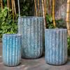 Tall Maris Planters (Terracotta in Aqua Blue Coral Finish)