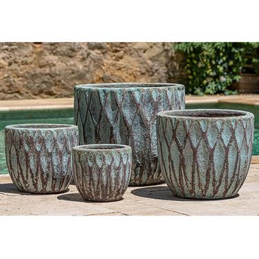 Navigli Planters (Terracotta in Verdigris Glaze)