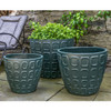 Netura Planters (Terracotta in Matte Green Glaze)