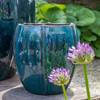 Rib Vault Planter (Terracotta in Indigo Rain Glaze)