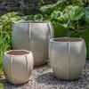 Rib Vault Planters (Terracotta in Cream Glaze)