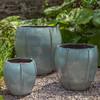 Rib Vault Planters (Terracotta in French Green Glaze)