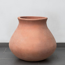 Venasque Jar: Terracotta in natural finish