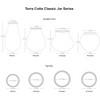 Terra Cotta Classic Jar Series Specifications
