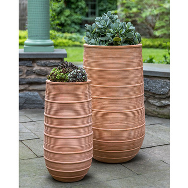 Madera Tall Planters (Terracotta in Natural Finish)