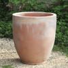 Rovigo Round Planter: Terracotta in natural finish