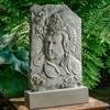 Antique Quan Yin Plaque - Material: Cast Stone - Finish: Alpine Stone