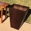 Dovetail Planter 24in - Poplar Dark Bake Thermal Wood Oil Finish