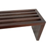 Canti Bench 48in - Dark Ash Thermal Wood Oil Finish