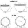 Huntington Bowl Planter Specifications
